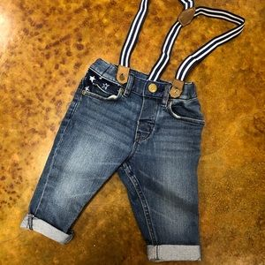 H&M's 4-6 Month Jeans w/suspenders